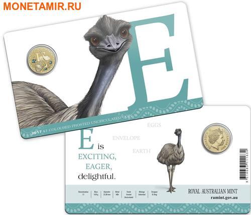 Австралия 1 доллар 2017.Алфавит – E – Страус (Блистер).Арт.000086253546/60 (фото, вид 2)