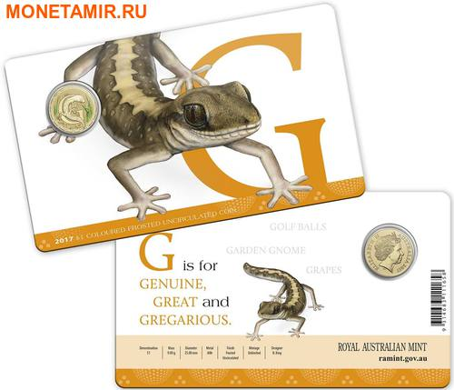 Австралия 1 доллар 2017.Алфавит – G – Ящерица (Блистер).Арт.000086253548/60 (фото, вид 2)