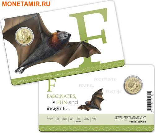 Австралия 1 доллар 2017.Алфавит – F – Летучая лиса (Блистер).Арт.000086253547/60 (фото, вид 2)