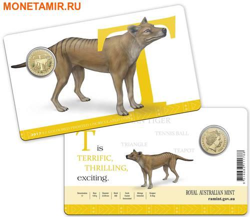 Австралия 1 доллар 2017.Алфавит – T – Тасманийский тигр (Блистер).Арт.000086253561/60 (фото, вид 2)