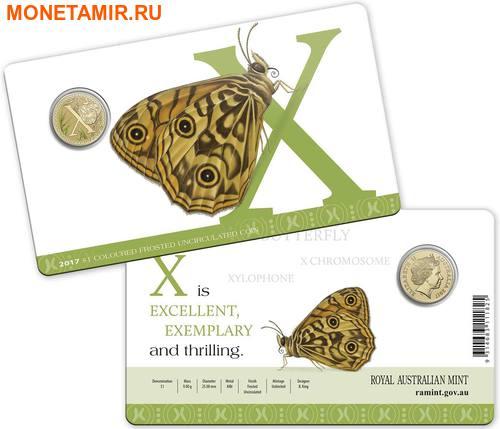 Австралия 1 доллар 2017.Алфавит – X – Бабочка (Блистер).Арт.000086253565/60 (фото, вид 2)