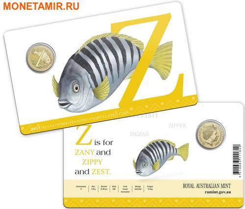Австралия 1 доллар 2017.Алфавит – Z – Рыба зебра (Блистер).Арт.000086253567/60 (фото, вид 2)