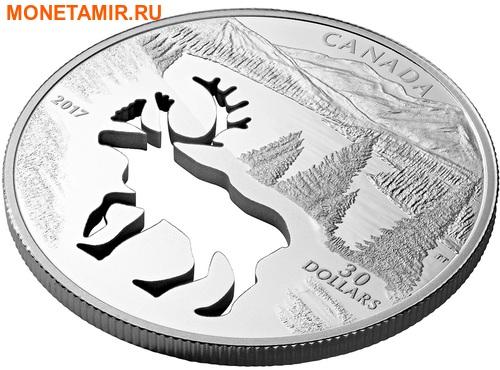 Канада 30 долларов 2017.Олень Карибу - Силуэт.Арт.60 (фото, вид 1)