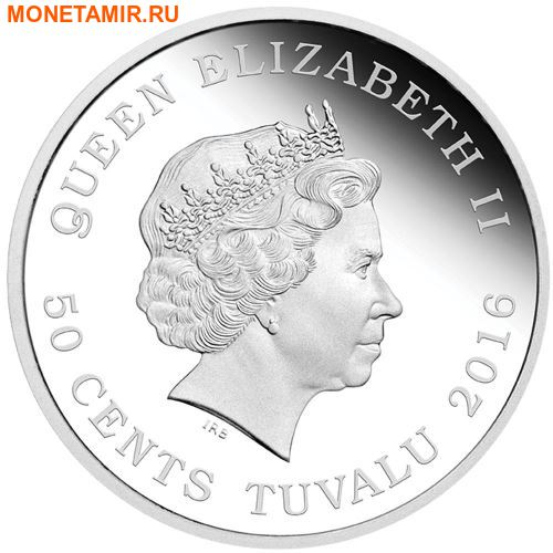 Тувалу 50 центов 2016 Щенки Лабрадора Всегда вместе.Арт.60 (фото, вид 1)