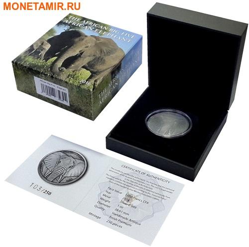 Буркина Фасо 1000 франков 2016 Слон.Арт.60 (фото, вид 2)