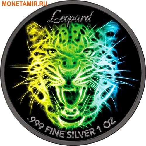Соломоновы острова 3х2 доллара 2016 Неоновая коллекция – Лев Леопард Тигр (Solomon Isl. 3x2$ 2016 Black Neon Collection Lion Leopard Tiger).Арт.002147353575/60 (фото, вид 2)