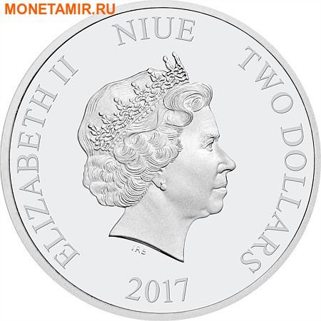 Ниуэ 2 доллара 2017 Горбатый Кит.Арт.000356653832/60 (фото, вид 1)