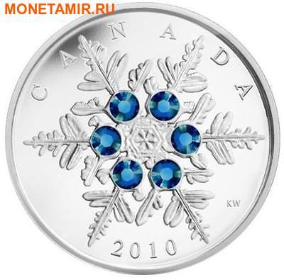 Канада 20 долларов 2010.Снежинка (Голубая).Арт.000269833168/60 (фото, вид 1)