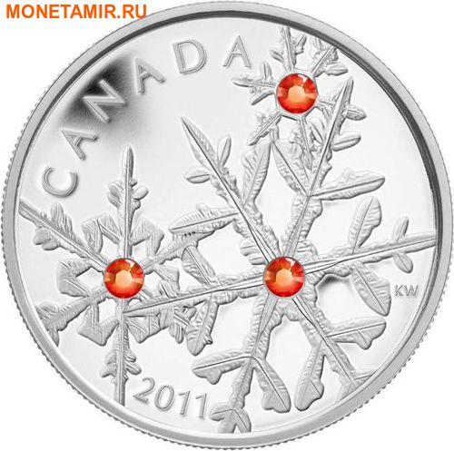 Канада 20 долларов 2011.Снежинка (Гиацинт).Арт.000374536234/60 (фото, вид 1)