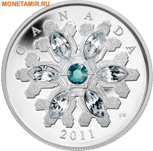 Канада 20 долларов 2011.Снежинка (Изумруд).Арт.000374536219/60 (фото, вид 1)