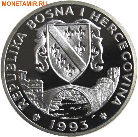 Босния и Герцеговина 750 динаров 1993 Горные лыжи - Зимние Олимпийские игры 1994 в Лиллехаммере.Арт.000336137690/60 (фото, вид 1)