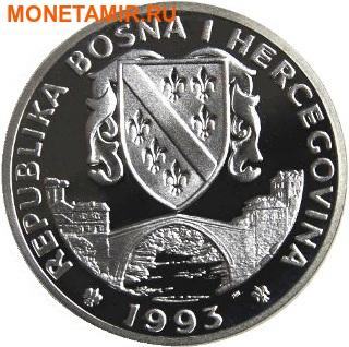 Босния и Герцеговина 750 динаров 1993 Фигурное катание - Зимние Олимпийские игры 1994 в Лиллехаммере.Арт.000336137694/60 (фото, вид 1)