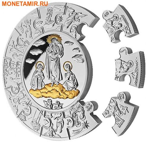Либерия 100 долларов 2010 Пресвятая Дева Мария (Пазл, Килограмм).Арт.004400053878/60 (фото, вид 1)