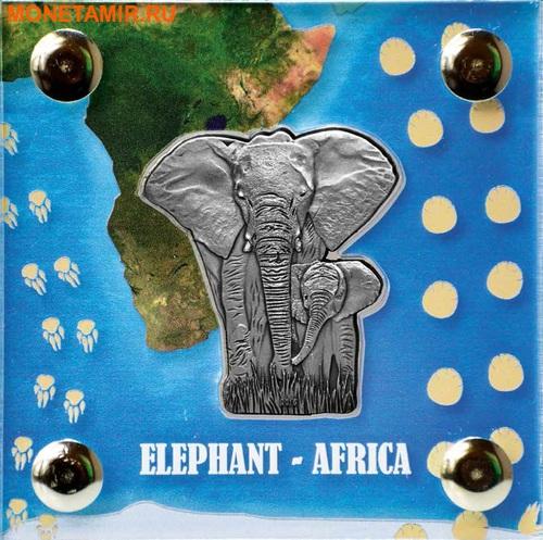 Буркина Фасо 1000 франков 2016 Слон с детенышем.Арт.60 (фото, вид 1)