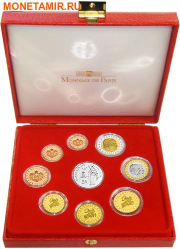 Монако 2004 8,88 евро Официальный годовой набор и 5 евро Святая Девота (9 монет).Арт.003475039221/60 (фото, вид 1)