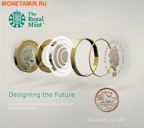 Великобритания 1 фунт 2017 Новый фунт Символы Королевства (Биметалл).Арт.000062853971/60 (фото, вид 2)