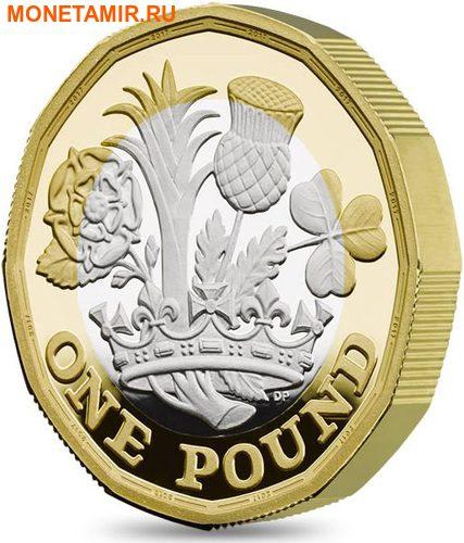 Великобритания 1 фунт 2017 Новый фунт Символы Королевства.Арт.000435353973/60 (фото, вид 1)
