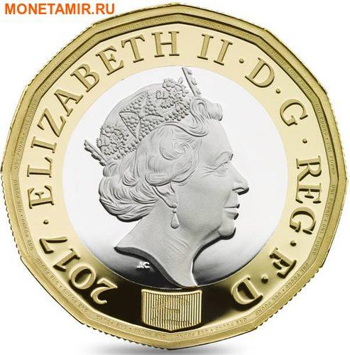 Великобритания 1 фунт 2017 Новый фунт Символы Королевства.Арт.000435353973/60 (фото, вид 2)