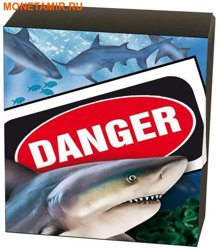 Тувалу 1 доллар 2017 Бычья Акула серия Смертельно Опасные (Tuvalu 1$ 2017 Deadly and Dangerous Bull Shark 1oz Silver Coin).Арт.000363354003/92 (фото, вид 4)