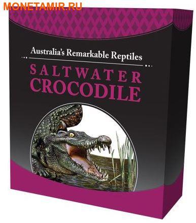 Тувалу 1 доллар 2017 Морской Крокодил Замечательные Рептилии (Tuvalu 1$ 2017 Remarkable Reptile Saltwater Crocodile 1 oz Silver Coin).Арт.000399654000/60 (фото, вид 4)