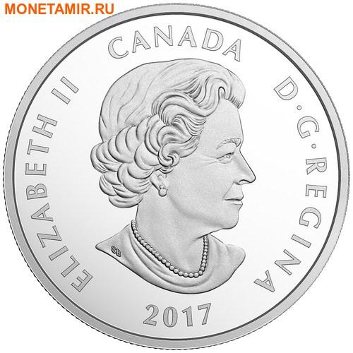 Канада 10 долларов 2017 Лиса с детенышем – 150 лет Празднования Канады.Арт.000196553933/60 (фото, вид 1)
