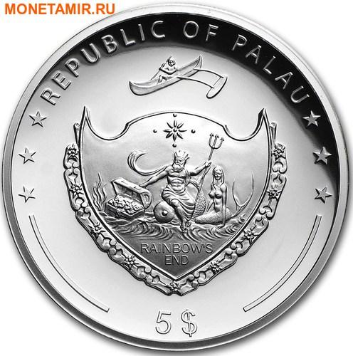 Палау 5 долларов 2017 Год Петуха – Лунный календарь.Арт.000461753995/60 (фото, вид 1)