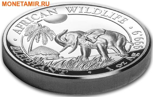 Сомали 100 шиллингов 2017 Слон из серии Дикая Африка (High Relief).Арт.000428753997/60 (фото, вид 1)