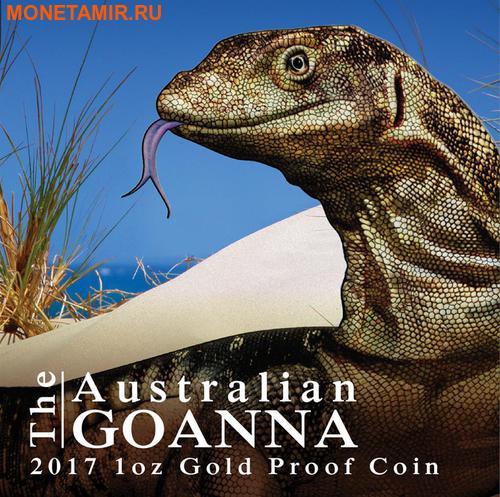 Ниуэ 100 долларов 2017 Ящерица Австралийский Варан Замечательные Рептилии (Niue $100 2017 Australian Goanna Remarkable Reptiles 1oz Gold Proof Coin).Арт.60 (фото, вид 7)