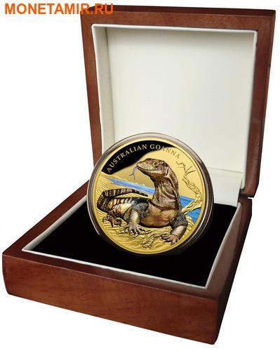 Ниуэ 100 долларов 2017 Ящерица Австралийский Варан Замечательные Рептилии (Niue $100 2017 Australian Goanna Remarkable Reptiles 1oz Gold Proof Coin).Арт.60 (фото, вид 3)