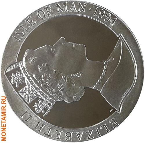 Остров Мэн 1 крона 1994 Футбол Чемпионат мира в США (игрок и вратарь).Арт.000148654049/60 (фото, вид 1)