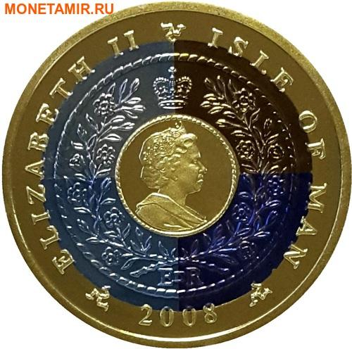 Остров Мэн 1 крона 2008 Международный год планеты Земля (Титан четыре цвета).Арт.K1,4G1820D/31760/65 (фото, вид 1)