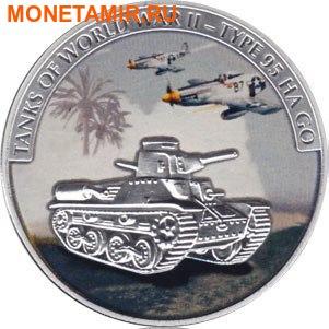Либерия 5х5 долларов 2008 Танки Второй Мировой Войны.Арт.60 (фото, вид 1)