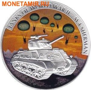 Либерия 5х5 долларов 2008 Танки Второй Мировой Войны.Арт.60 (фото, вид 2)