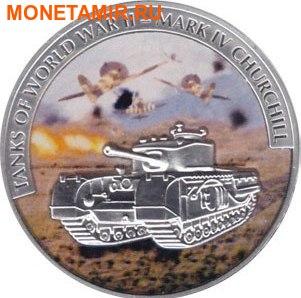 Либерия 5х5 долларов 2008 Танки Второй Мировой Войны.Арт.60 (фото, вид 3)