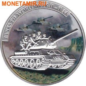 Либерия 5х5 долларов 2008 Танки Второй Мировой Войны.Арт.60 (фото, вид 4)