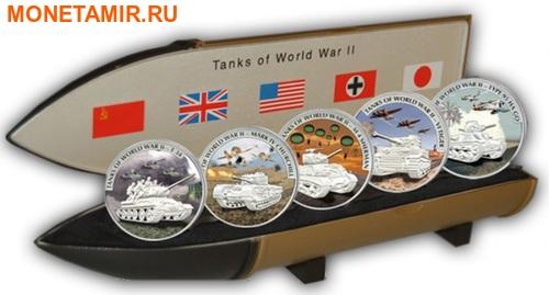 Либерия 5х5 долларов 2008 Танки Второй Мировой Войны.Арт.60 (фото, вид 6)