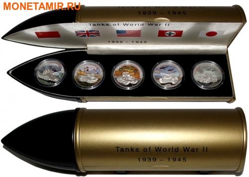 Либерия 5х5 долларов 2008 Танки Второй Мировой Войны.Арт.60 (фото, вид 7)