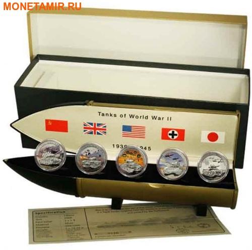Либерия 5х5 долларов 2008 Танки Второй Мировой Войны.Арт.60 (фото, вид 8)
