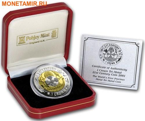 Гибралтар 1 крона 2001 Двадцать первый век Три металла.Арт.65 (фото, вид 2)