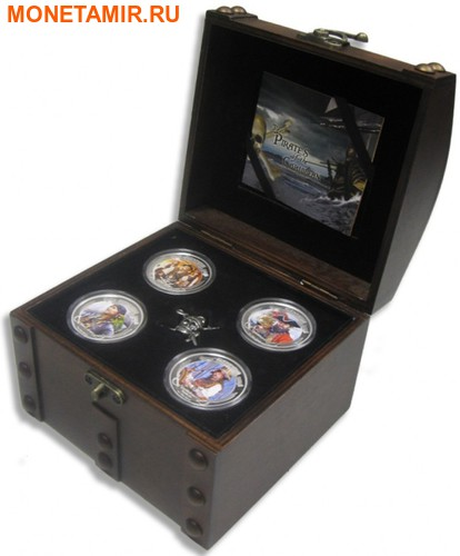 Ниуэ 4х2 доллара 2011 Пираты Карибского Моря.Арт.000978653905/60 (фото, вид 6)