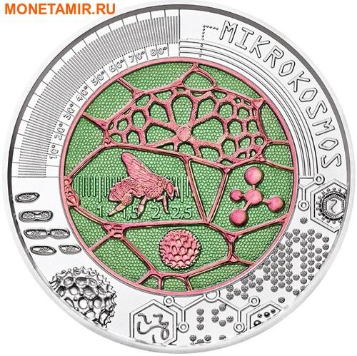 Австрия 25 евро 2017 Микрокосмос (Бабочка Пчела).Арт.60 (фото, вид 1)