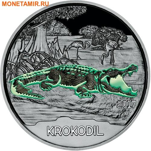 Австрия 3 евро 2017 Крокодил (Colourful Creatures The Crocodile).Арт.60 (фото, вид 1)