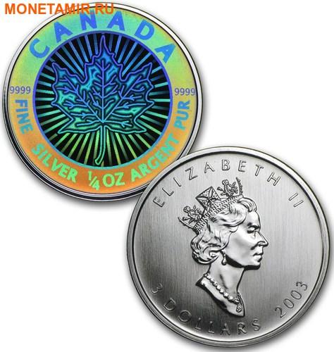 Канада 15 долларов 2003 Кленовые листья Голограмма (Набор из 5 монет).Арт.60 (фото, вид 3)