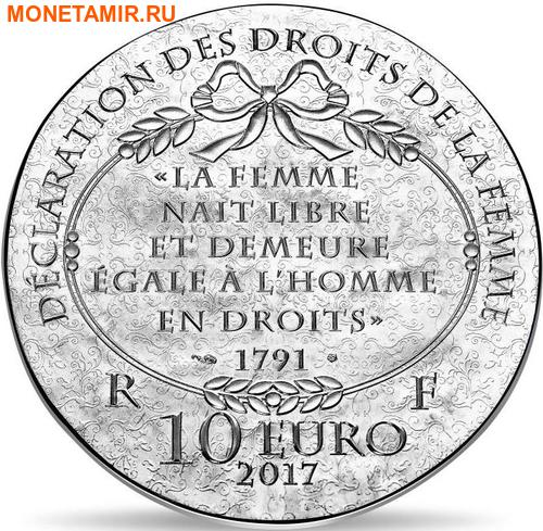 Франция 10 евро 2017 Олимпия де Гуж серия Женщины Франции.Арт.60 (фото, вид 1)