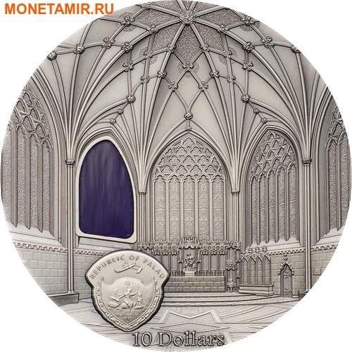 Палау 10 долларов 2017 Уэльский кафедральный собор (Wells Cathedral) серия Тиффани Арт.Арт.60 (фото, вид 4)