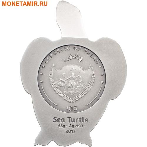 Палау 10 долларов 2017 Морская черепаха.Арт.60 (фото, вид 3)