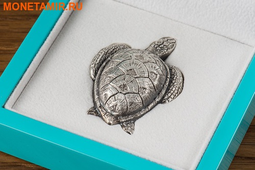 Палау 10 долларов 2017 Морская черепаха.Арт.60 (фото, вид 4)