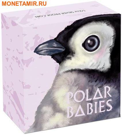 Тувалу 50 центов 2017 Детеныш Императорского пингвина.Арт.60 (фото, вид 3)
