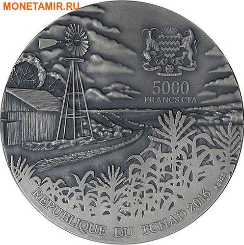 Чад 5000 франков 2016 Метеорит Бренхам - BRENHAM METEORITE.Арт.60 (фото, вид 2)