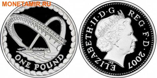 Великобритания 10,50 фунтов 2007 Набор пьедфорт (piedfort) 5 монет.Арт.000775353397/60 (фото, вид 4)